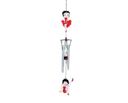 Carillon éolien Betty Boop / Robe Rouge