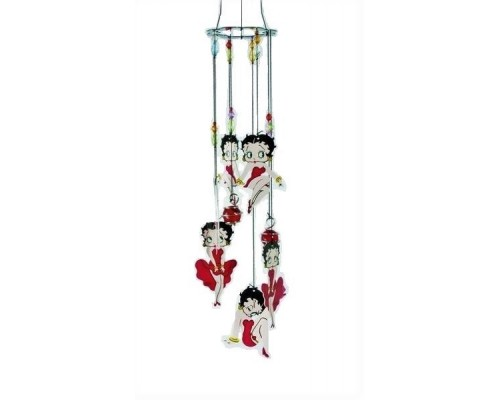 Carillon éolien métalique Betty Boop / Robe Rouge