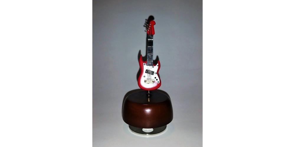 mini guitare lectrique rouge boite musical 5 pouces. Black Bedroom Furniture Sets. Home Design Ideas
