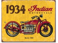 Enseigne Indian Motorcycle 1934 en métal