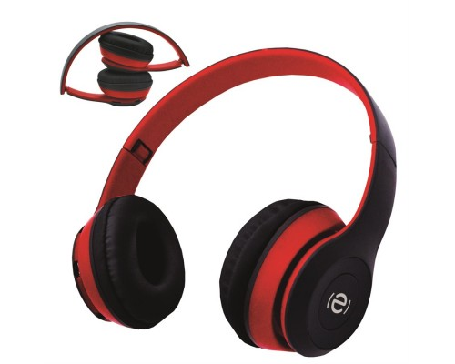 Casque Bluetooth ESCAPE BTS60 mains libres noir et rouge