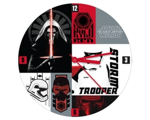 "Horloge Star Wars en bois 13.5"" / The Force Awakens"