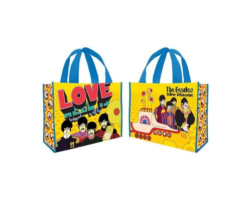 Beatles Grand sac réutilisable / Yellow submarine, All you need is Love