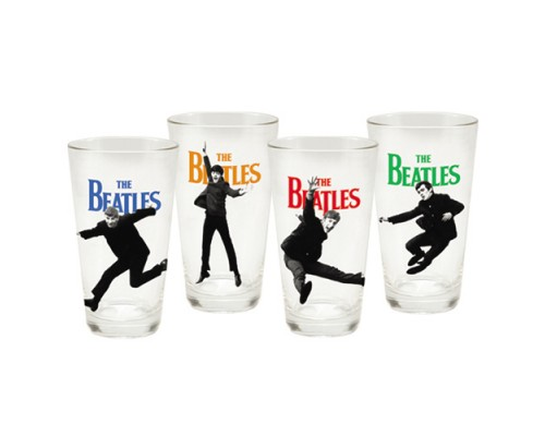 Ensemble Beatles de 4 verres format Pinte