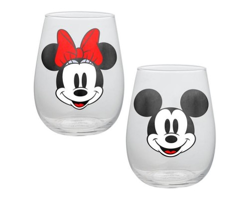 Ensemble Mickey et Minnie de 2 verres 18oz