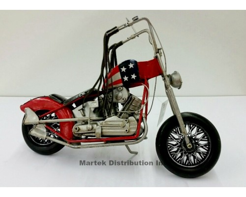 Moto en métal vintage Chopper USA style antique